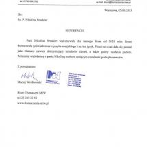 Biuro Tlumaczen MIW - Maciej Wroblewski - Wspolpraca w zakresie tlumaczen pisemnych list referencyjny