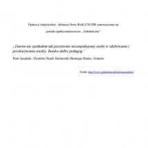 Dyrektor Hotelu Donimirski Boutique Hotels - klient indywidualny list referencyjny