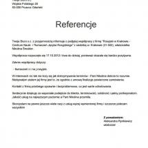 Twoje Biuro list referencyjny