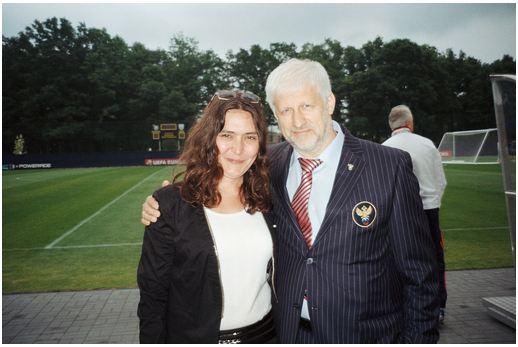z ówczesnym Prezesem Rosyjskiego Związku Piłki Nożnej Siergiejem Fursenko